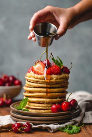 how to keep pancakes warm