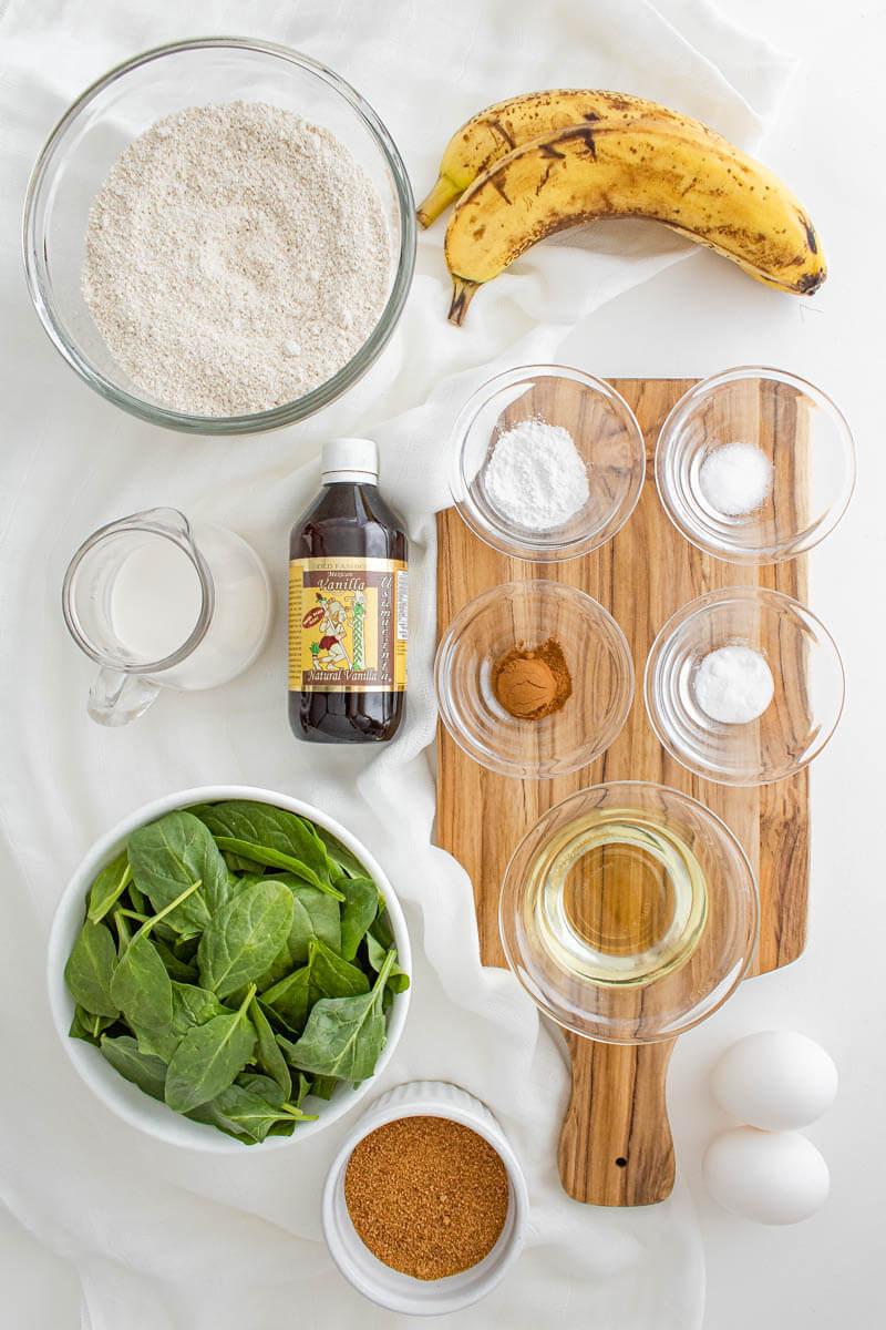 spinach banana muffins recipe ingredients